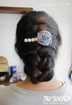 绝对看的百变蝎子辫 2012年头发流行什么颜色