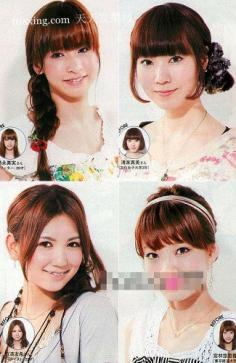 甜美发型DIY打造日式沙龙 韩国学生流行发型
