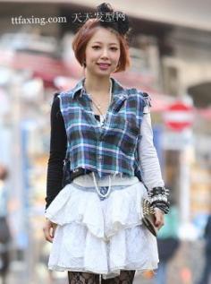 偶在日本迎新春人气发型 短发发型圆脸