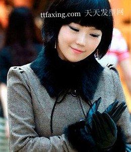 无刘海可爱发型 街头时尚潮女韩国街拍发型
