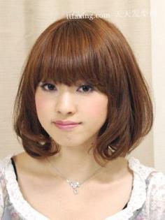 人气刘海的小脸发型进化史 2012年头发流行颜色