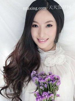 顶级的彤彤妩媚发型~长黑发韩国流行发式图片
