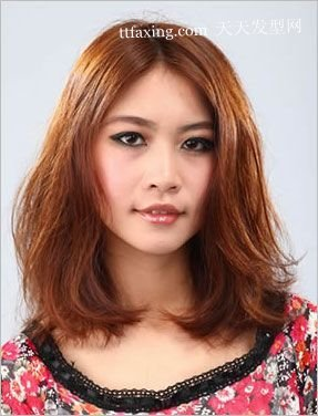 短发 中长发 中短发 中分梨花头发型图片