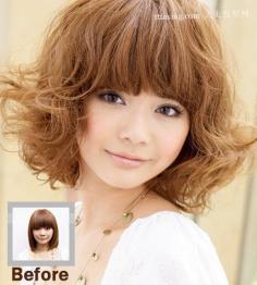 日本店员可爱女生发型设计 可爱学生短发