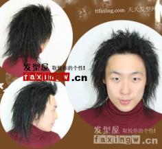 男生锡纸烫发型图片 蓬松个性