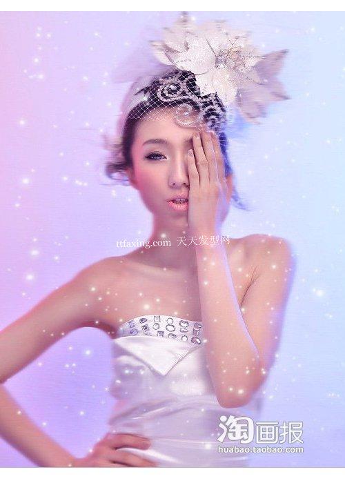 新娘发型~让你活力挡不住 韩国新娘盘头