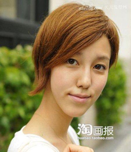 发型 刘海/齐刘海非常青春可爱,而短俏的街拍发型让街头的高温似乎一下子...