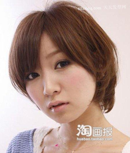最新短发烫发 大脸短发造型~女性妩媚气