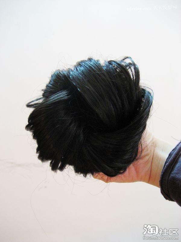 中短发花苞头图片