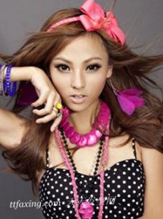 张妮娜showgirl演绎时尚发型