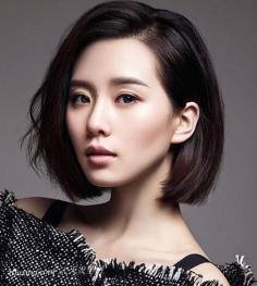 6款时尚百变女生斜刘海发型