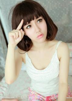 短刘海发型青春甜美减龄效果一级捧