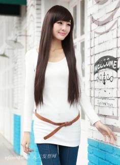 2013夏季女生长直发发型图片