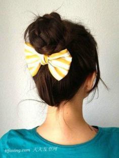 2013韩式花苞头发型最新扎法