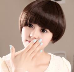 个性、时尚的2013可爱锅盖头短发图片