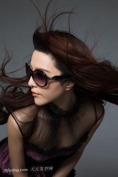 气质女神范冰冰的知性长发发型