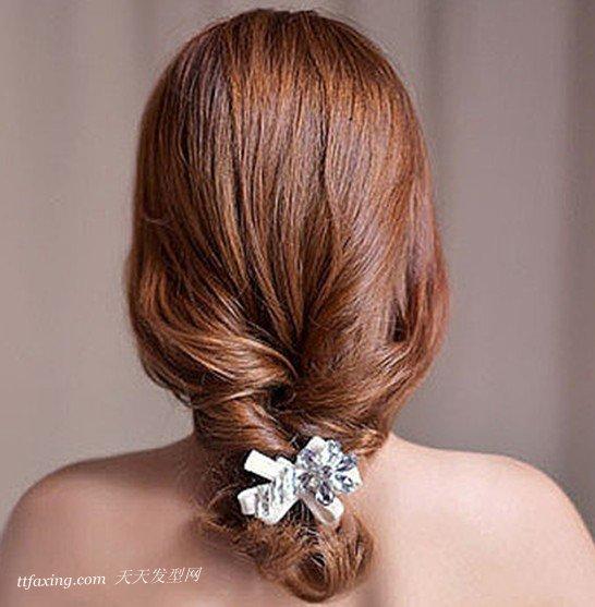 韩式好看时尚的简单编发盘发发型图片
