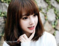 修脸是王道!韩国明星梨花头发型图片展示