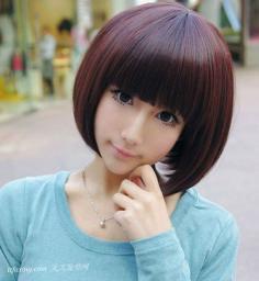 2013女生波波头发型走甜美清纯路线