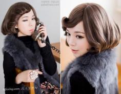 女生斜刘海发型图片大全