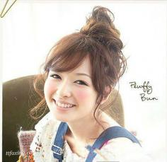 发型也能增高 蓬松日式花苞头好看的发型