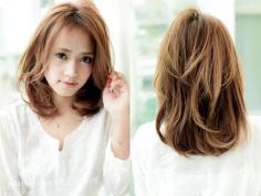 清新齐肩梨花头 脸型配发型瘦脸减龄最出色
