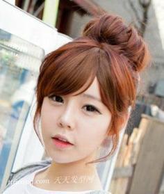 八款韩式丸子头 可爱洋气活力十足