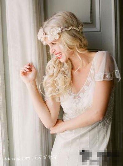 五款简洁新娘发型 打造优雅甜美新娘