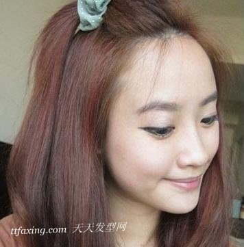 韩式发型diy:创新高位马尾辫