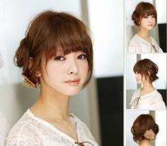 五款流行短发发型 秋冬巧用发饰变索女