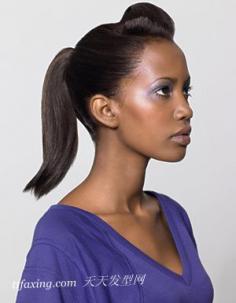 2013冬季发型:马尾辫的扎法