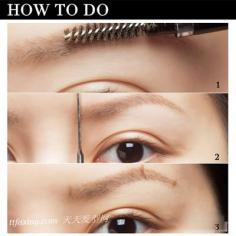彩妆要画好眉形很重要 缺陷眉形修补法