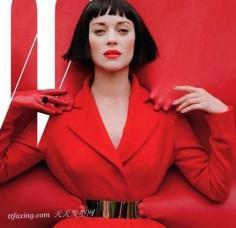 末日惊艳展现 Marion Cotillard红与黑的魅力