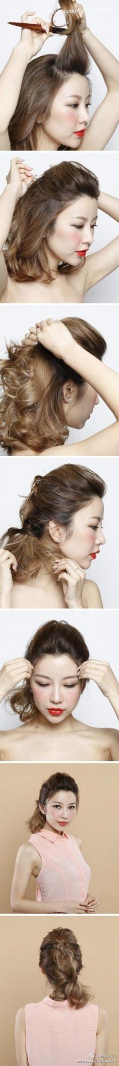 十一魅力马尾发型 扭扭就搞定的活力低马尾