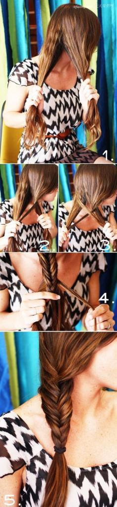 尾辫的编织方法 扎头发的方法图解