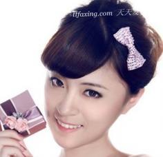 韩式花苞头发型扎法图解