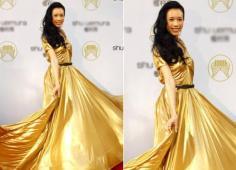 女星穿衣的金牌情节 BlingBling裙助阵奥运