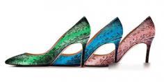 MiuMiu2014新款女鞋 尖头细跟贝壳色别具特色