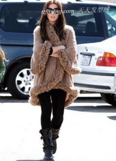 混搭时尚 明星演绎星味毛衣
