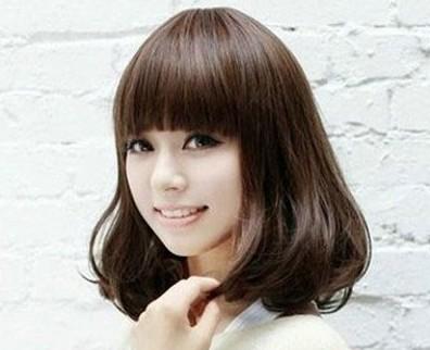 内扣梨花头发型图片分享 最佳修颜发型轻松变瓜子脸图片