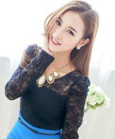 大脸女生斜刘海发型图片设计 让你瞬间拥有迷人小脸