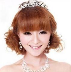 2014最美的短发新娘发型 清爽甜美撩动你心