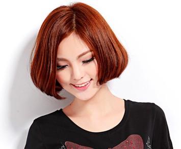 短发中分图片头梨花打造瓜子脸变身萌橡胶可曲绕女孩软v短发型号图片