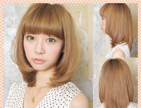 大脸女生适合什么发型 日系可爱少女风短发你值得拥有图片