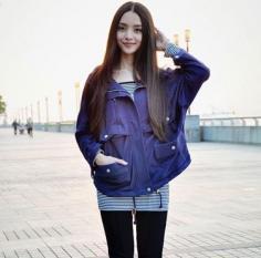 清纯日系女生长直发发型 甜美邻家风格甜美无比