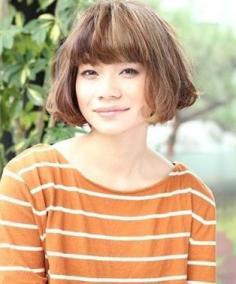 推荐5款大脸女生适合的发型 青春小脸让短发帮你造就