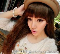 清新甜美韩式中长发卷发发型 宅女立即变女神