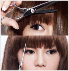 教你如何自己剪刘海 四个步骤剪出超自然刘海