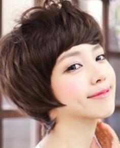 韩式女生纹理烫效果图 展现独特的短发魅力