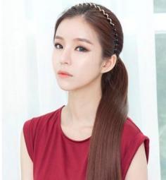 最美韩式马尾扎法图片 甜美清新的气息充满发丝